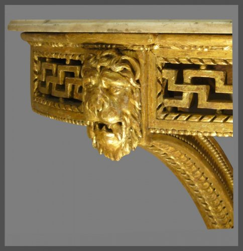 French Giltwood Console - Louis XVI style before Louis XVI - Furniture Style Louis XVI