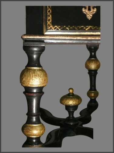 Furniture  - Louis XIV Period French ebonized bureau Mazarin