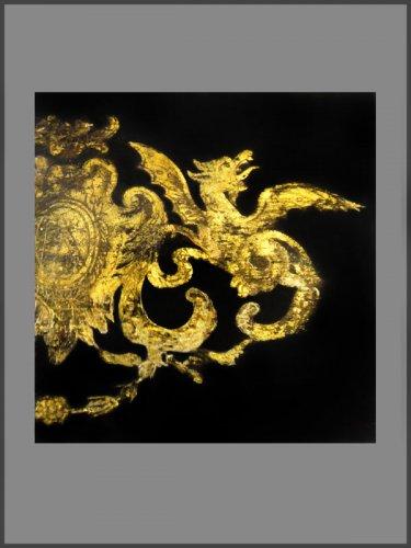 18th century - Louis XIV Period French ebonized bureau Mazarin