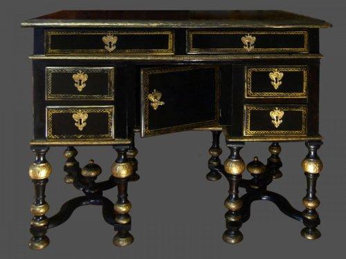 Louis XIV Period French ebonized bureau Mazarin - Louis XIV