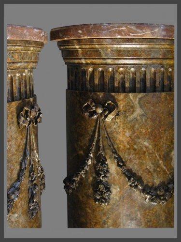 Pair of semi circular columns - Architectural & Garden Style Louis XVI