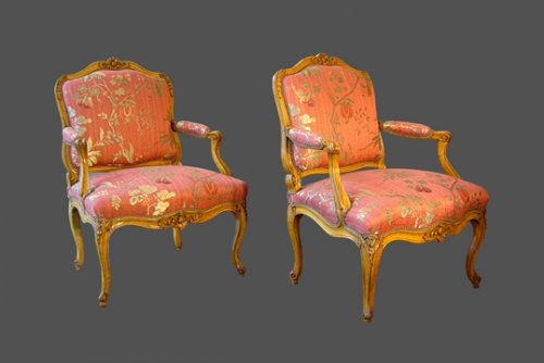 Flat back armchairs
