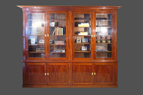 Mahogany bookcase, French Empire period