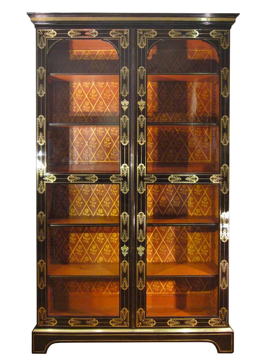 Biblioth Que Ancienne Antiquit S Anticstore # Bibliotheque Directoire Avec Etageres En Merisier