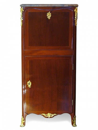 Louis XV Mahogany Secretaire by DUBOIS and JME