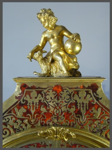 Boulle Marquetery Cartel Clock - Clocks Style Louis XIV