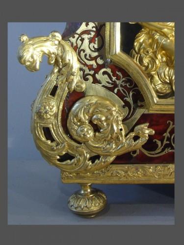 Antiquités - Boulle Marquetery Cartel Clock