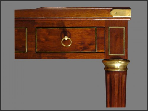 A Louis XVI Mahogany Ebony, Ivory Tric-Trac table - Furniture Style Louis XVI