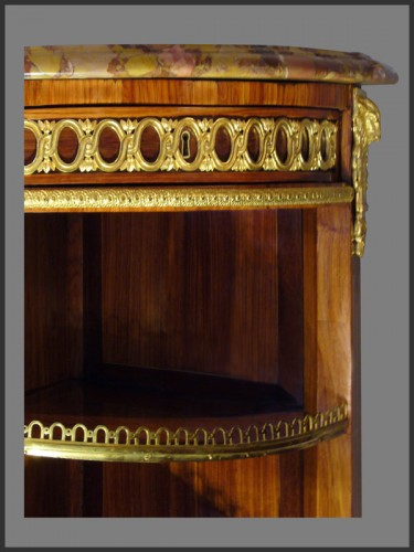 Antiquités - Louis XVI Console Desserte stamped RVLC