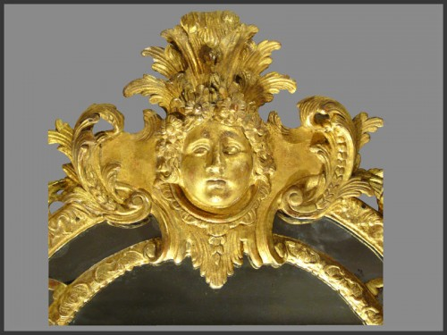 Regence Period giltwood Mirror - Mirrors, Trumeau Style French Regence