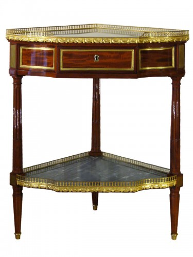 Furniture  - Louis XVI Pair of Mahogany Encoignures, by Georges JACOB