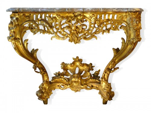 Louis XV Period giltwood Console