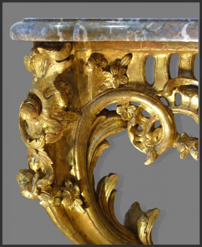 Louis XV Period giltwood Console - Furniture Style Louis XV