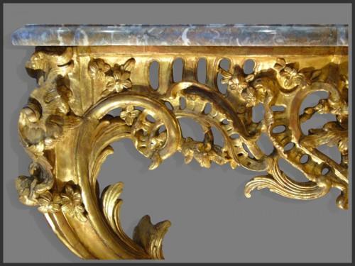 Furniture  - Louis XV Period giltwood Console
