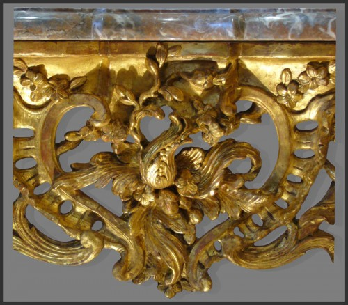 Louis XV Period giltwood Console -
