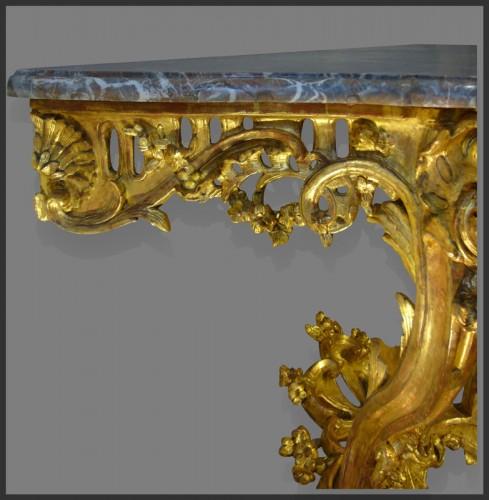Antiquités - Louis XV Period giltwood Console