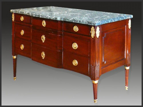 Louis XVI chest of drawers stamped Georges Jacob - Louis XVI
