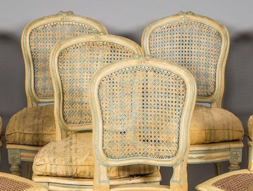 A Suite of eight Louis XV Caned Chairs - Louis XV