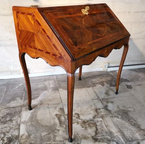 A French, Louis XV secrétaire à dessus brisé,  circa 1740 - Furniture Style Louis XV