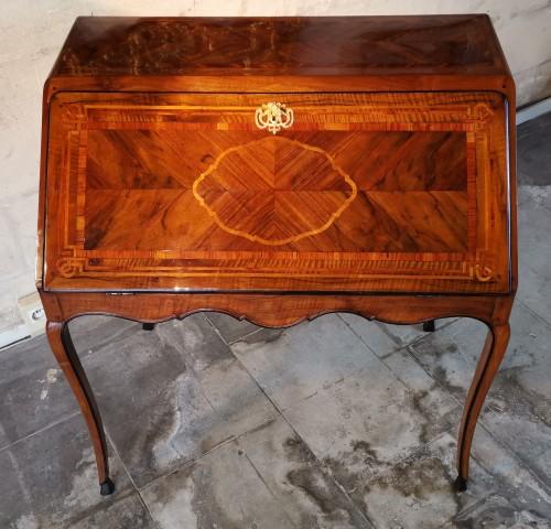 Furniture  - A French, Louis XV secrétaire à dessus brisé,  circa 1740