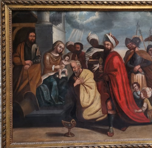 17th century - The adoration of The magi, Italian School 17 Th Century