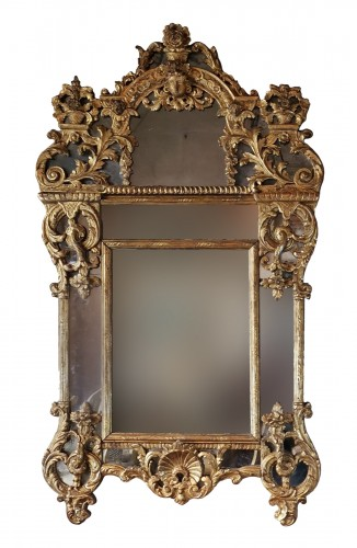 A Regence giltwood mirror early 18th century circa 1700-1720