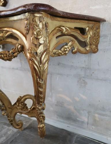 A Louis XV console circa 1755 -