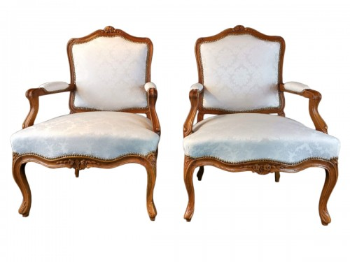 Pair of Louis XV armchairs circa 1750