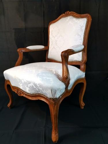 Pair of Louis XV armchairs circa 1750 -