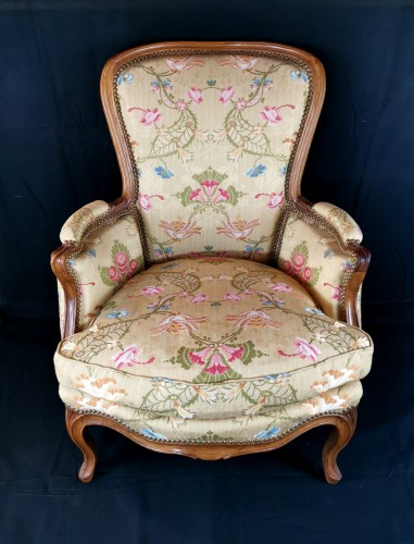 Seating  - A Louis XV Bergère stamped J.B LEBAS, mid-18th century, circa 1756