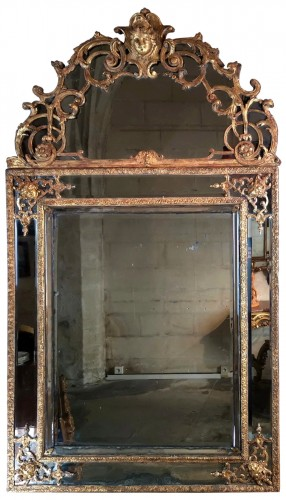 A Louis XIV mirror, early 18th century circa 1700-1715