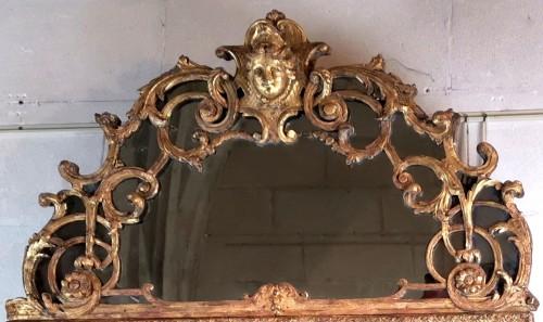 A Louis XIV mirror, early 18th century circa 1700-1715 - Mirrors, Trumeau Style Louis XIV