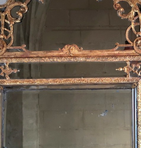 Antiquités - A Louis XIV mirror, early 18th century circa 1700-1715