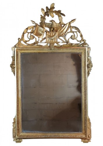 Neoclassical mirror Louis XVI  late time of 18th century circa 1781.