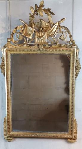 Neoclassical mirror Louis XVI  late time of 18th century circa 1781. - Mirrors, Trumeau Style Louis XVI