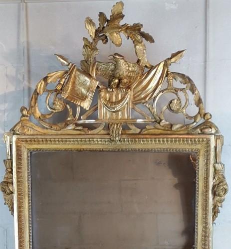 Mirrors, Trumeau  - Neoclassical mirror Louis XVI  late time of 18th century circa 1781.