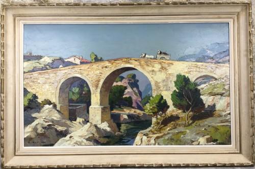 Gustave Vidal (1895-1966) - The old roman bridge