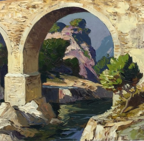 Antiquités - Gustave Vidal (1895-1966) - The old roman bridge