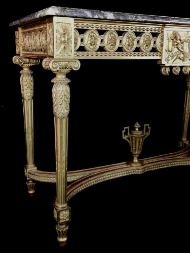 Neoclassical console table Louis XVI period late 18th century circa 1800  - Furniture Style Louis XVI