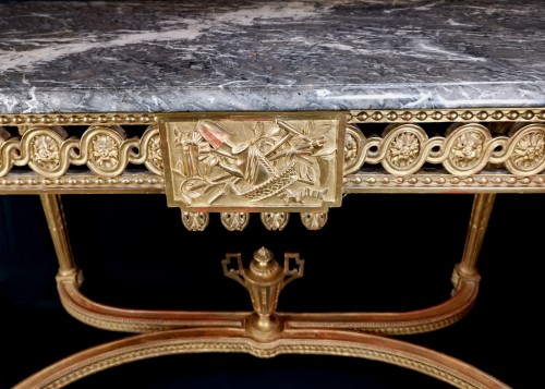 Furniture  - Neoclassical console table Louis XVI period late 18th century circa 1800