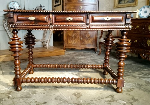 Furniture  - A Solid Rosewood Louis XIV Table Circa 1680