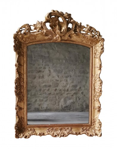 A Late Régence Period Giltwood Mirror, early 18th century