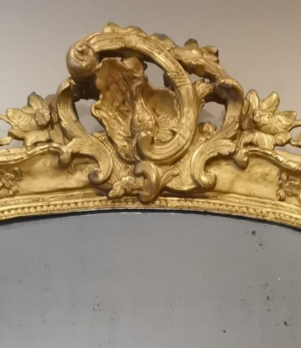 A Late Régence Period Giltwood Mirror, early 18th century - French Regence