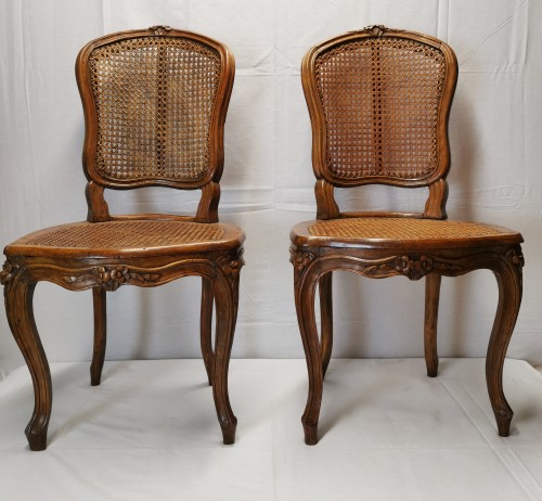 A set of four Louis XV cane chairs circa 1750 - Seating Style Louis XV