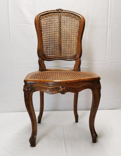 Seating  - A set of four Louis XV cane chairs circa 1750