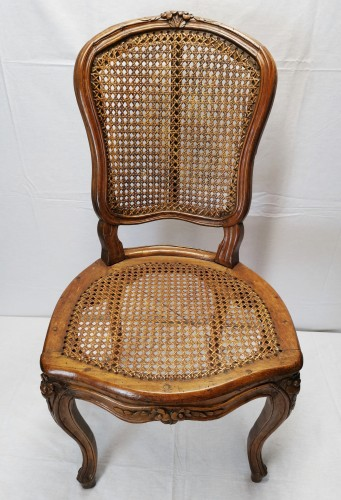 A set of four Louis XV cane chairs circa 1750 -