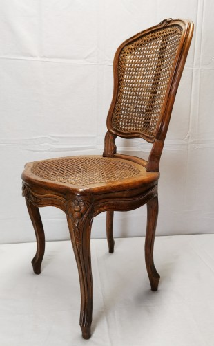 18th century - A set of four Louis XV cane chairs circa 1750