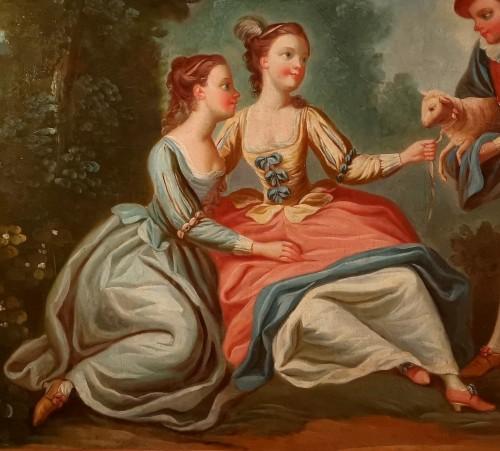 Pastoral scene - French School circa 1760-1770 -
