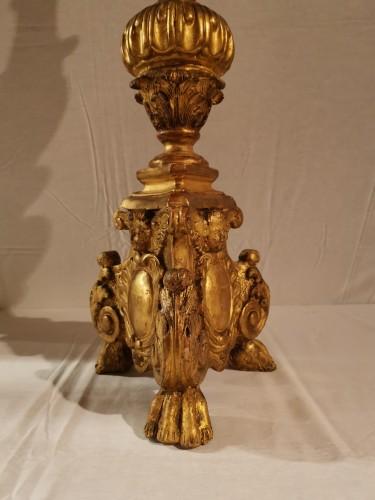 """Antiquités - A giltwood Louis XIV """"Torchère"""" mid 17th century."""