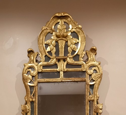 Louis XV  Provencal mirror circa 1760-1770 - Mirrors, Trumeau Style Louis XV